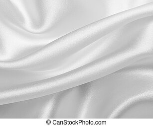 silk satin fabric texture background - close up of white...