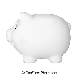 piggy bank money savings finance - close up of piggy bank on...