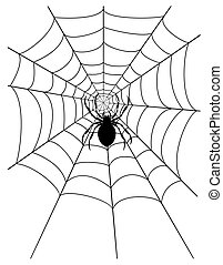 spider web stock vector illustration isolated on white...
