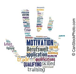 solated Word Cloud - Application and professional life -...