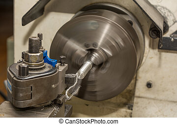 metal industry - Lathe - Metalworking with a lathe