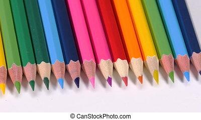Row of wooden pencils