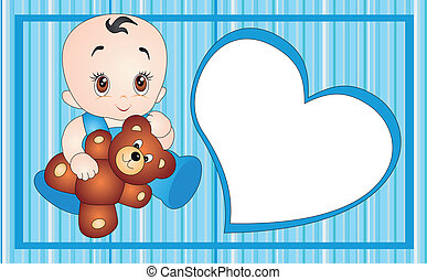 Baby vector - New born baby card design. To see similar,...