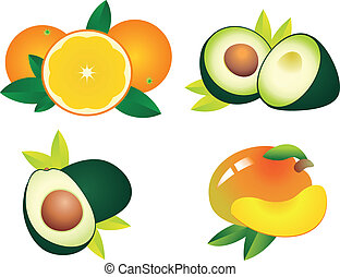 Fruits vector - Set of fruit vectors. To see similar, please...