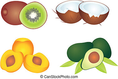 Fruit vector - Set of fruit vectors To see similar, please...