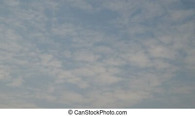 beautiful view of clouds in blue sky in video - beautiful...