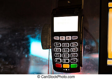Credit Card machine For Transaction in New York City Taxi