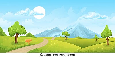 Rural summer landscape