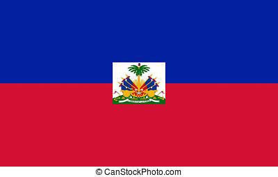 Flag of Haiti - Illustration of the Flag of Haiti