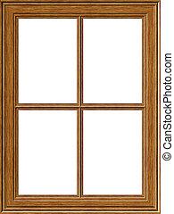 bois, fenêtre, cadre