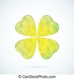 Green geometric clover vector background