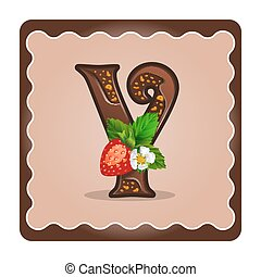 Letter y candies chocolate - Cards for children for learning...