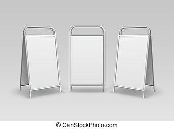 Metal Advertising Street Handheld Sandwich Stands - Vector...