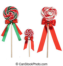 Colorful lollipops with ribbons - Colorful lollipops with...
