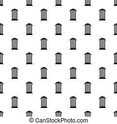 Street trash pattern, simple style - Street trash pattern....