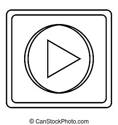 Play icon, outline style