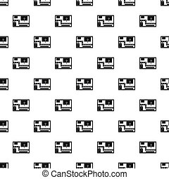 Road map pattern, simple style - Road map pattern. Simple...