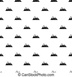 Snowy mountains pattern, simple style