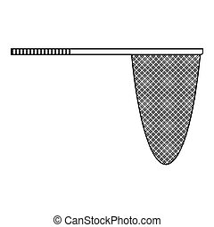 Fishing net icon, outline style - Fishing net icon. Outline...