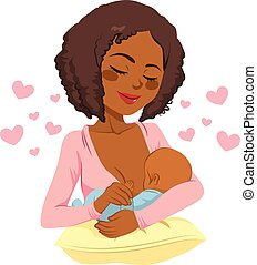 African American Breastfeeding Mother