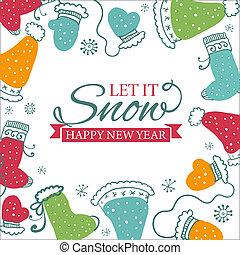 Christmas greeting card. illustration - Christmas greeting...