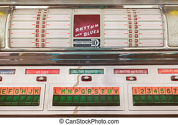 Retro styled image of an old jukebox