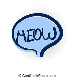 meow comic text shadow - meow, cat, cute lettering, cartoon...