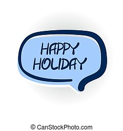 Happy holiday greetings comic text shadow - Comics book...