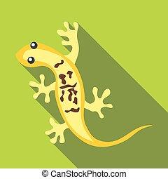 Little lizard icon, flat style - Little lizard icon. Flat...