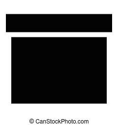 Square box icon, simple style - Square box icon. Simple...