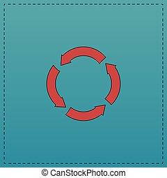 circle arrows computer symbol - circle arrows Red vector...