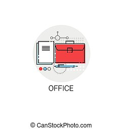Briefcase Business Office Stuff Icon Vector Illustration