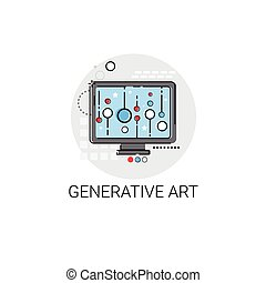 Generative Modern Art Technology Icon