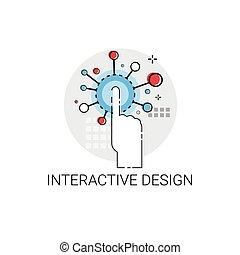 Interactive Design Creative Technology Icon Vector...