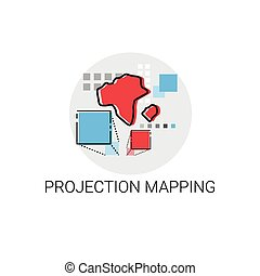 Project Mapping Management Business Icon Vector Illustration