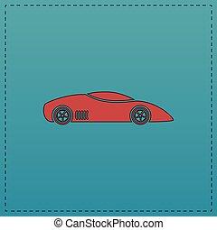 sport car computer symbol