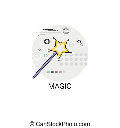 Magic Wand Imagination Miracle Icon Vector Illustration