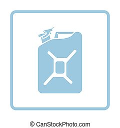 Fuel canister icon. Blue frame design. Vector illustration.