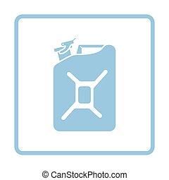 Fuel canister icon. Blue frame design. Vector illustration.