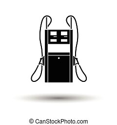 Fuel station icon. White background with shadow design....