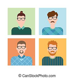 Business People Group Icon Set Man Businesspeople Team