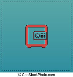 strongbox computer symbol - strongbox Red vector icon with...
