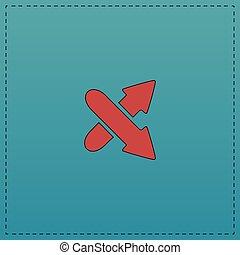 crossing arrow computer symbol - crossing arrow Red vector...