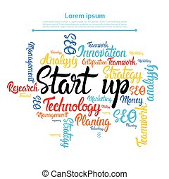 Startup Development Business Brainstorming Infographic...