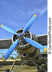 Aircraft propeller of a Antonov An-2 - The aircraft...