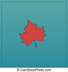 Maple Leaf computer symbol - Maple Leaf Red vector icon with...