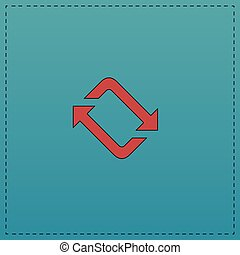 refresh computer symbol - refresh Red vector icon with black...