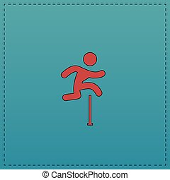 Steeplechase computer symbol - Steeplechase Red vector icon...