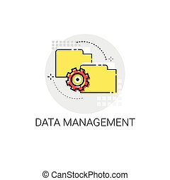 Data Management Content Marketing Icon Vector Illustration