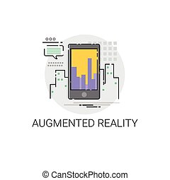 Augmented Reality Visual Technology Icon Vector illustration
